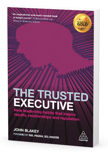 The Trusted Executive coaching book - Click to Buy Now on Amazon